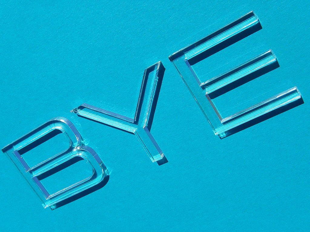 Plexiglas Buchstaben