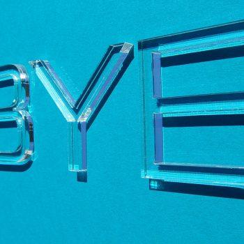 Buchstaben aus Plexiglas in 3mm Materialstärke